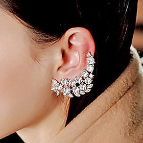 Women's Cubic Zirconia Ear Cuff - Zircon, Cubic Zirconia, Rhinestone Vintage, Fashion White For Party Daily Casual