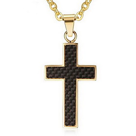 Men's Pendant Necklace / Pendant - Stainless Steel Cross Luxury, Cross Gold, Silver Necklace Jewelry For Daily, Casual