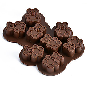 Bear Shaped DIY Chocolate Baking Molds Handmade Soap Mold Ice Cube Moulds Random Color 5035316
