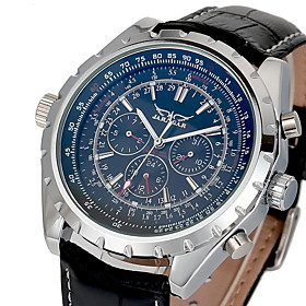 Men's Auto-Mechanical Calendar Leather Band Watch Wrist Watch Cool Watch Unique Watch Fashion Watch