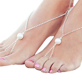 Women's Fashion Crochet Cotton Foot Jewelry Anklet Bracelet Ankle Chain Beach Barefoot Sandals 5053291