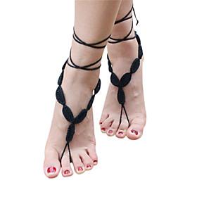 handmade crochet del cotone sandali a piedi nudi yoga caviglia cavigliera catena delle donne 5053258