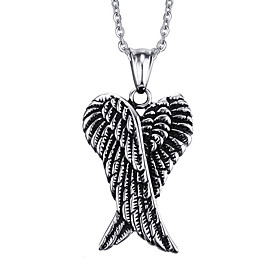 Men's Engraved Pendant Necklace Pendant Stainless Steel Ladies Punk European Silver Necklace Jewelry For Daily Casual
