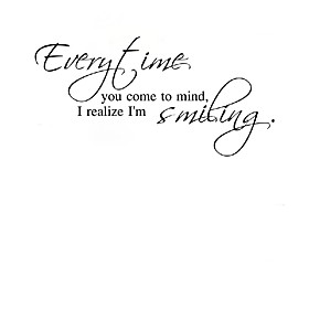 Every Time You Come Ot Mind I Realize I Am Smiling  Wall Stickers 5009767