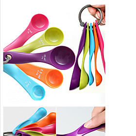 Colorful 5PCS Kitchen Measuring Spoons Measuring Cups Spoon Cup Baking Utensil Set Kit Measuring Tools 5016381