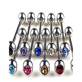 5PCS Stainless Steel Tongue Piercing Ring Body Jewelry Random Color 5003270