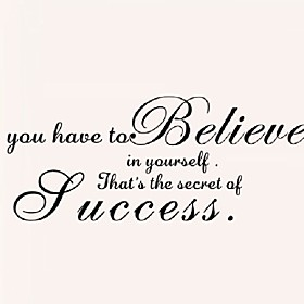 You Have To Believe Home Decor Creative Quote Wall Decal Decorative Adesivo De Parede Removable Vinyl Wall Sticker 5003578