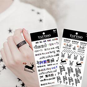 10Pcs/Lot  New High Quality Cartoon  Waterproof Temporary  Tattoo Sticker Body Art Sexy Makeup 5015876