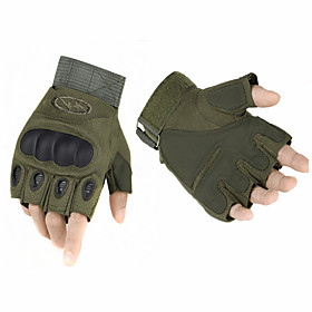 High Quality Outdoor Tactical Gloves Semi-finger Carbon Fiber Tortoise Shell Slip-resistant Gloves Military Combat 5034370