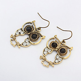 Women's Drop Earrings - Rhinestone Owl, Animal Vintage, European, Fashion Bronze For Party Daily Casual