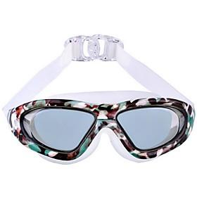 Large Frame Plating Plain Waterproof Swimming Glasses for Men and Women 5014765