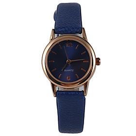 Mujer Reloj de Moda Reloj Casual Cuarzo Reloj Casual PU Banda Encanto Azul Azul Oscuro 5103550