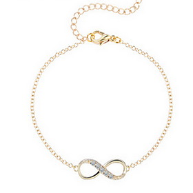 Women's Chain Bracelet - Infinity Basic, Simple Style, Fashion Bracelet Silver / Golden For Daily Casual Sports
