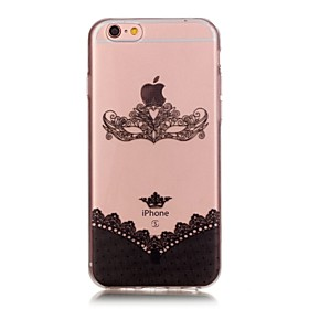 Per Custodia iPhone 6 \/ Custodia iPhone 6 Plus Transparente Custodia Custodia posteriore Custodia Vignette Morbido TPU AppleiPhone 6s
