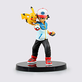 Pocket Little Monster Ash Ketchum and Pika Pika ABS 13.5cm Height Anime Action Figures 5104813