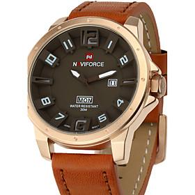 NAVIFORCE Luxury Brand Military Men Quartz Analog 3D Face Leather Clock Man Sports Watches Army Watch Fashion Watch 5118176