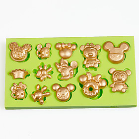 Multi Cartoon Mouse Cupcake Decoration Silicone Fondant Mold Sugarcraft Tools Polymer Clay Chocolate Candy Making 5113941