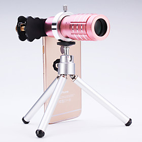 Universal 12 Telescope Lens for Mobile Phones iphone/samsung Silver/Gold/Rose/Black