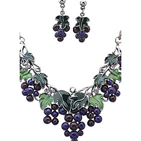 Women's Jewelry Set Rhinestone Ladies, Vintage, European, Fashion Include Necklace / Earrings Assorted Color For Wedding Party Daily Casual Work