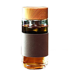 High-grade Thickened Glass Bottle with Tea Septum (Random Colors) 5098614