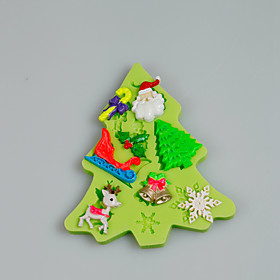 Christmas Themed Silicone Mould Fondant Cake Decorating Tools for Chocolate Cupcake Candy Polymer Clay Accessories 5070353