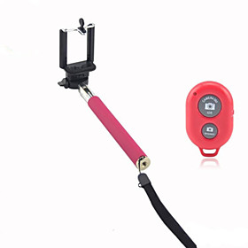 Selfie Stick Bluetooth Extendable Max Length 110 cm For iPhone / Android Smartphone Android / iOS