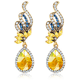 Women's Crystal Earrings Crystal Rhinestone Earrings Ladies Vintage European Fashion Jewelry White / Blue For Wedding Party Daily Casual Sports Masquerade