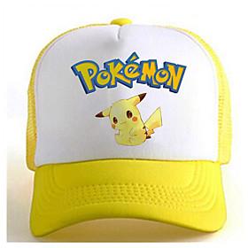 Pocket Little Monster Cute Pika Pika Yellow-White Adjustable Tennis Cap 5127198