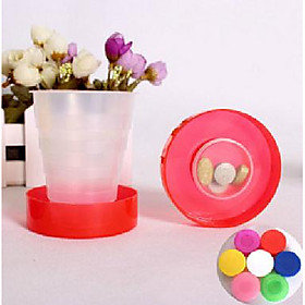 Creative Candy Colors Travel Portable Folding Cup Telescopic Cup Plastic Cups Creative Home 5113043
