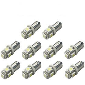 10pcs BA9S Car Light Bulbs 1 W SMD 5050 120 lm 5 LED Turn Signal Light For universal
