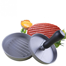 1PCS DIY Hamburg Burger Press Aluminum Machine Roast Meat Mold Maker Manual ressure Cookware Kitchen Tools 5104036
