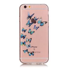 Per Custodia iPhone 6 \/ Custodia iPhone 6 Plus Transparente \/ Fantasia\/disegno Custodia Custodia posteriore Custodia Farfalla Morbido TPU
