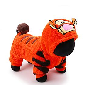 Gato Perro Disfraces Mono Ropa para Perro Bonito Cosplay Vacaciones Caricatura Naranja 5094188