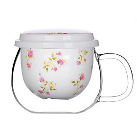Flower Ceramic Tea Cup / Coffee Mug with Tea Stainer 5089221