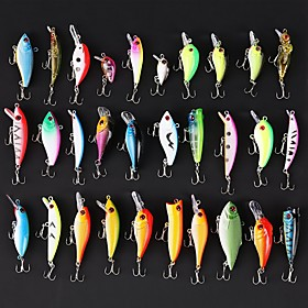 30 pcs Hard Bait Swimbaits Minnow Crank Pencil Vibration/VIB Lure kits Fishing Lures Jerkbaits Hard Bait Minnow Crank Lure Packs 2860118