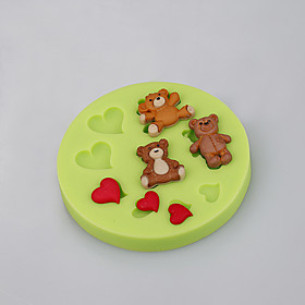 Cake Baking Tools Teddy Bear Heart Silicone Fondant Mold Cake Decorating Tools for Chocolate Cupcake Candy Clay Making 5070355