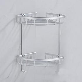 Stainless Steel Bilayer Tripod Space Aluminum Shelf for Bathroom 5098777