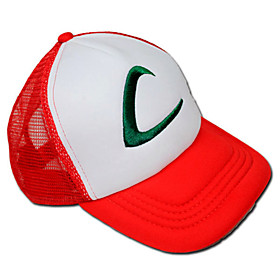 Hat/Cap Inspired by Pocket Monster Ash Ketchum Anime/ Video Games Cosplay Accessories Cap / Hat White / Red Terylene Male 363048