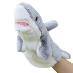 Animal Puppet Shark Plush Cartoon Toy Doll Small Grey Finger Puppets 5109083
