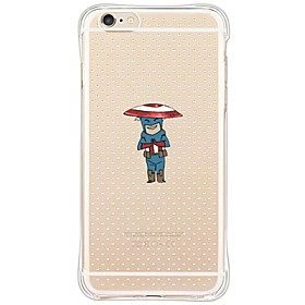 Custodia posteriore corpo trasparente Cartoni animati TPU MorbidoApple iPhone 6s Plus\/6 Plus \/ iPhone 6s\/6