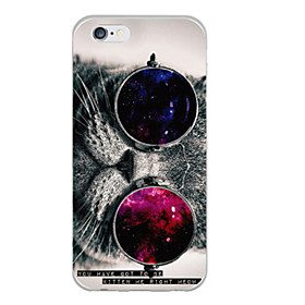 Cat with Glasses Pattern TPU Soft Back Case for iPhone 6s 6 Plus 3897601