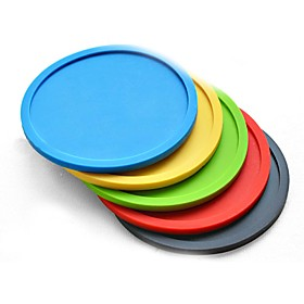 1PCs Silicone Drink Coaster Table Mat Silicone Insulation Pad Coasters Champagne Cups Bar Drinks Mats (Random Color) 5195274