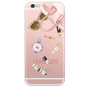 Per Custodia iPhone 6 \/ Custodia iPhone 6 Plus Ultra sottile \/ Traslucido Custodia Custodia posteriore Custodia Sexy Morbido TPU Apple