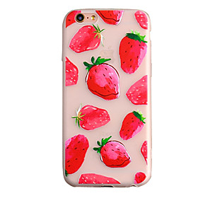 Per Custodia iPhone 6 \/ Custodia iPhone 6 Plus Effetto ghiaccio Custodia Custodia posteriore Custodia Frutta Morbido TPU AppleiPhone 6s