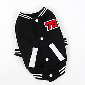 Dog Sweatshirt Red / Blue / Black Dog Clothes Winter / Spring/Fall Color Block Sports / Fashion 5151749