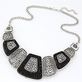 Women's Statement Necklace Resin Statement Vintage Fashion Black Red Necklace Jewelry For Wedding Party Daily Casual Work