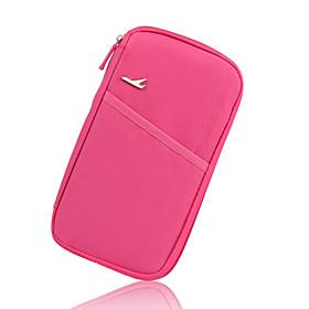 Travel Wallet Portable for Travel StorageRose Green Blue Blushing Pink Wine