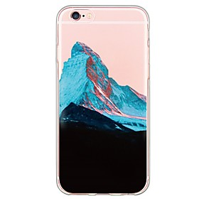 Per Custodia iPhone 6 \/ Custodia iPhone 6 Plus Ultra sottile \/ Traslucido Custodia Custodia posteriore Custodia Effetto marmo Morbido TPU