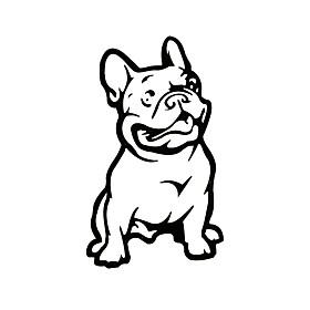 ZIQIAO Fashion French Bulldog Dog Car Sticker PET Cars Decal Weatherproof Auto Styling Cartoon Car Stickers