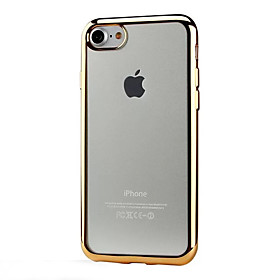 Per retro Trasparente Tinta unita TPU Morbido Copertura di caso per Apple iPhone 6s Plus\/6 Plus \/ iPhone 6s\/6 \/ iPhone SE\/5s\/5 \/ iPhone 7